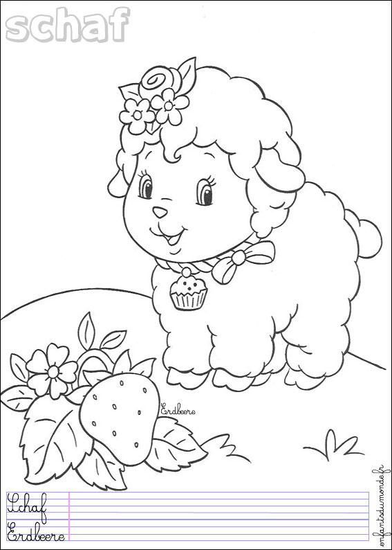 Coloriage mouton 2 coloriages animaux de la ferme en - Coloriage d animaux de la ferme ...
