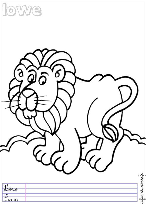 Coloriage lion 2 coloriages animaux de la jungle en - Coloriage animaux jungle ...