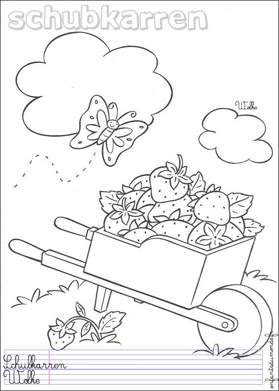 Coloriage Brouette 1 Coloriages Objets De Jardinage En