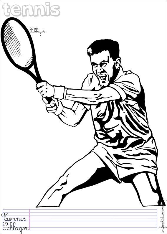 Coloriage de tennis de table - Dessin tennis de table ...