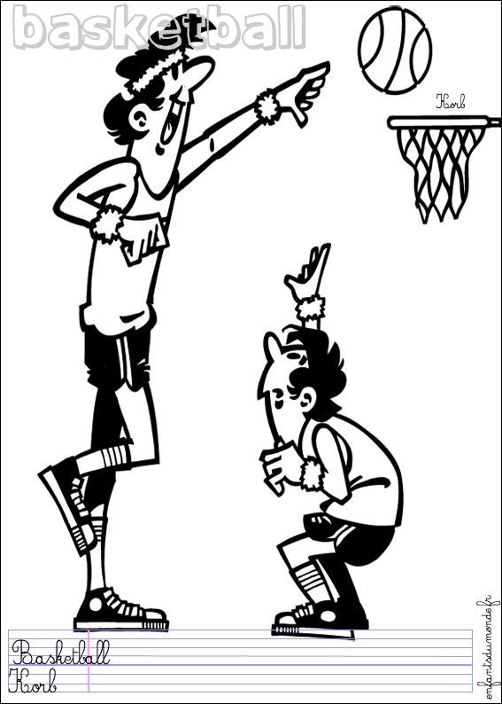 Dessin de basketteur - Dessin basket ...