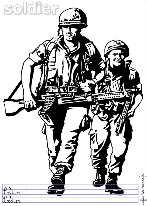 Coloriage Soldat Anglais.Coloriage Soldat Militaire