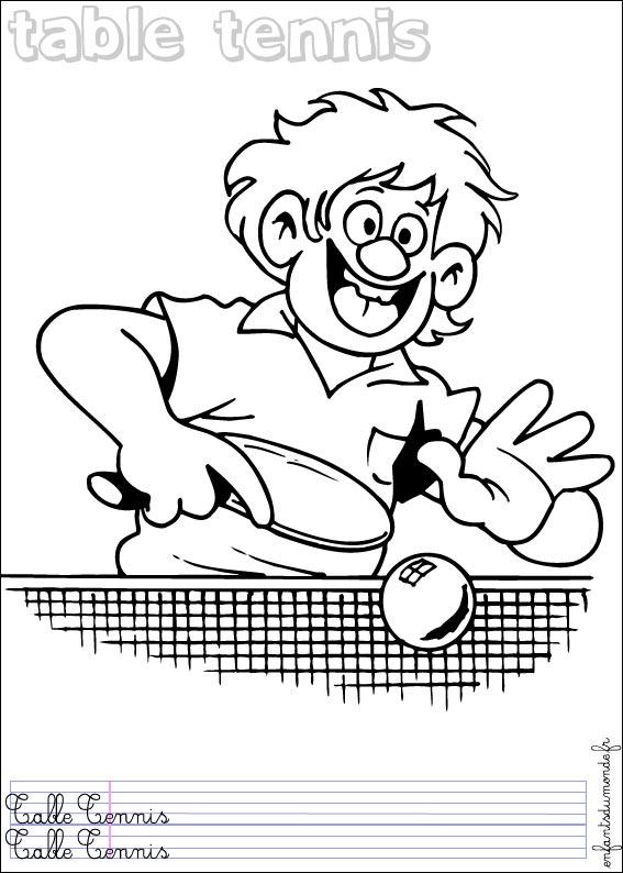 Tennis de table dessin - Dessin tennis de table ...