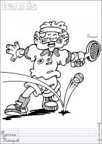 Coloriages sports de balle en anglais - Dessin tennis de table ...