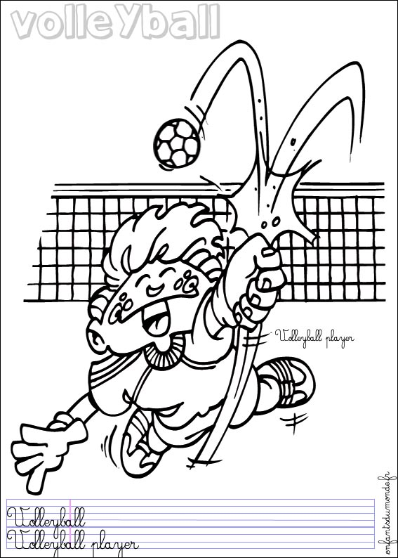 Volley dessin - Coloriages tfou ...