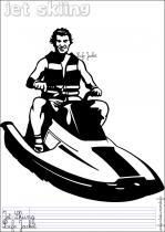 Coloriages sports d 39 eau en anglais - Jet ski dessin ...