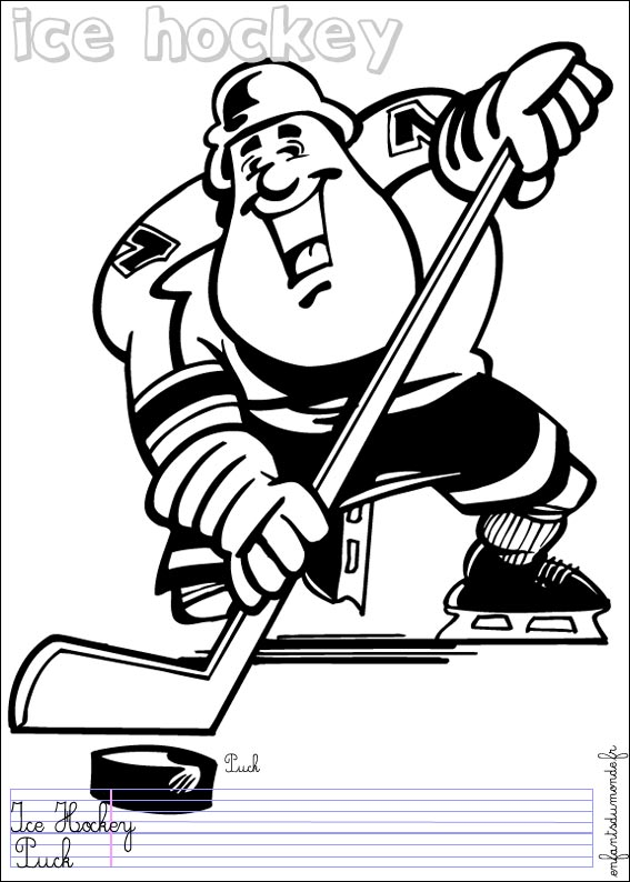 Dessin de patin de hockey - Dessin hockey ...