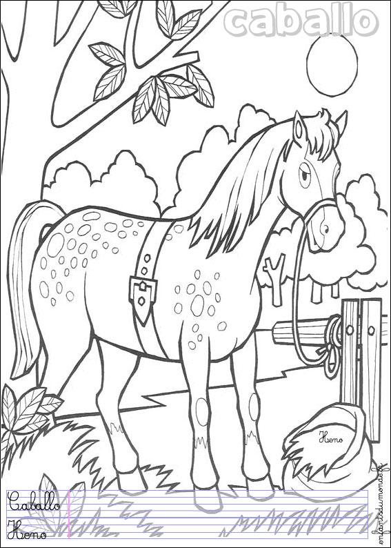 Coloriage cheval 1 coloriages animaux de la ferme en - Coloriage chevaux imprimer ...