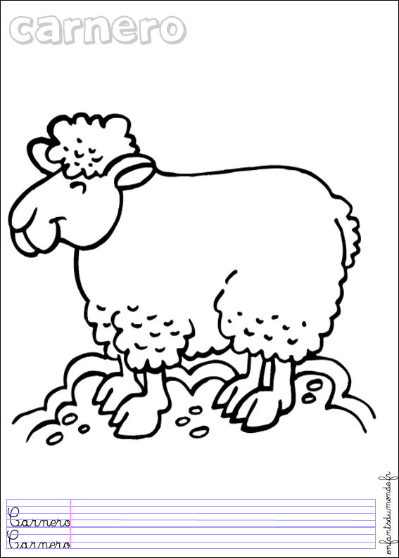 Coloriage Ferme Mouton.Coloriage Mouton 3 Coloriages Animaux De La Ferme En