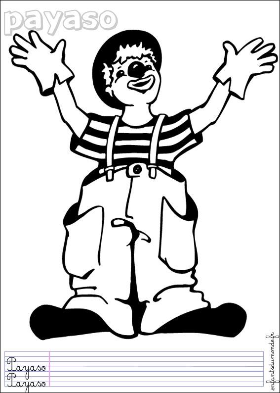 Dessin de clown - Dessin de cirque ...