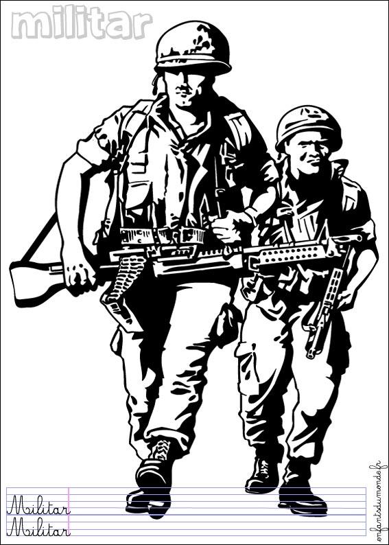 http://www.enfantsdumonde.fr/espagnol/metier%20securite/coloriage-militaire-1.jpg