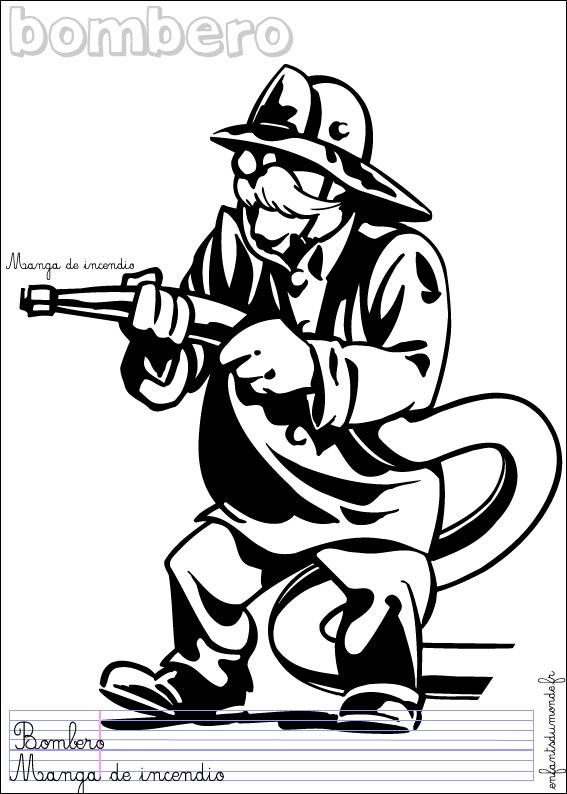 Coloriage sam le pompier - Dessin pompiers ...