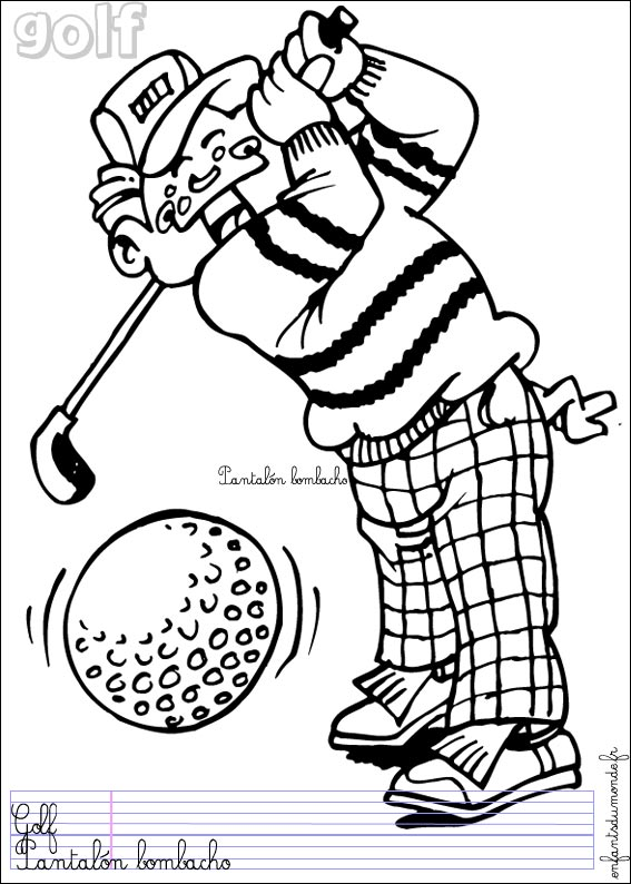 Coloriage golf 2 coloriages sports de balle en espagnol - Coloriage espagnol ...