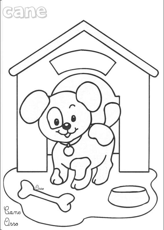 Chiot a imprimer - Coloriage de chien ...