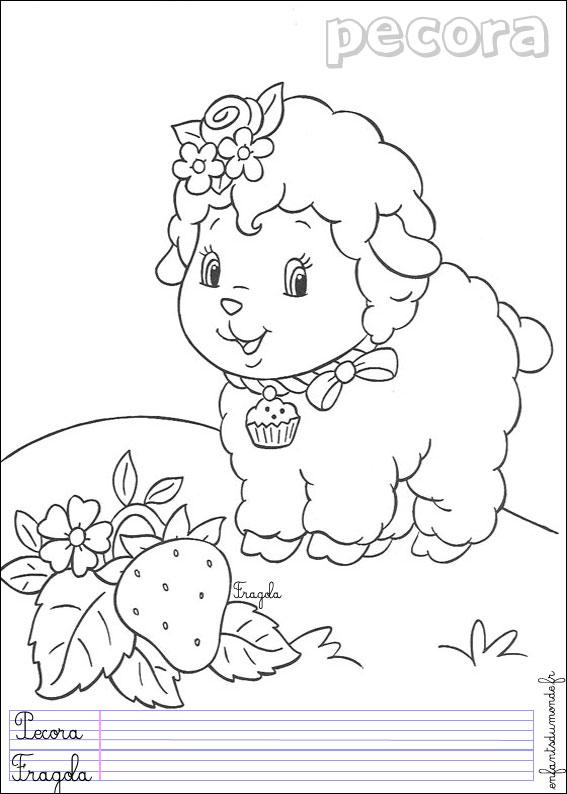 Coloriage Mouton 2 Coloriages Animaux De La Ferme En Italien