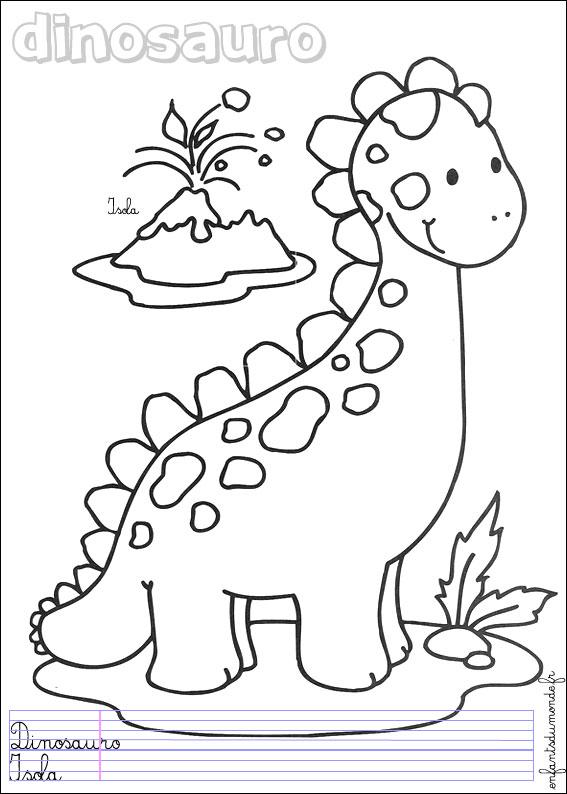 Coloriages de dinosaures et dessins d animaux prehistoriques - Coloriages de dinosaures ...