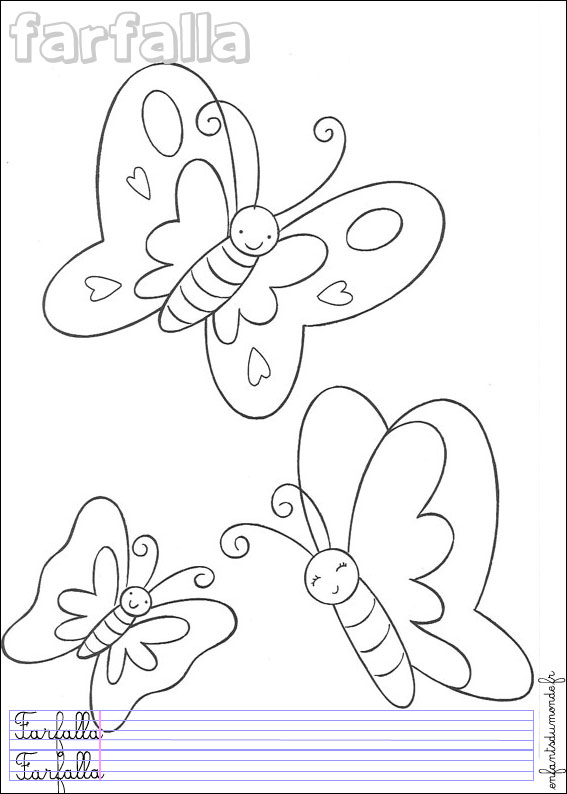 Coloriage papillon 2