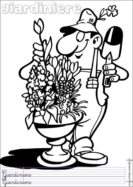 Dessin jardinier for Service jardinier