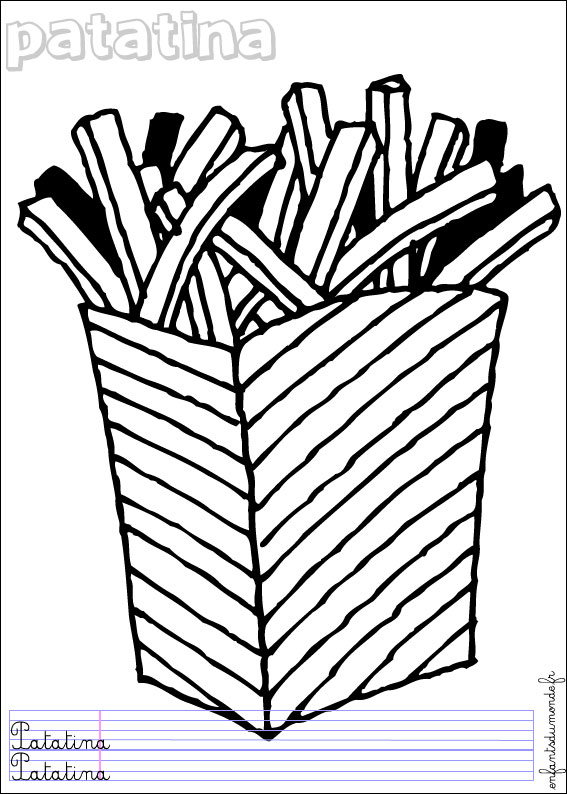 coloriage frites 1