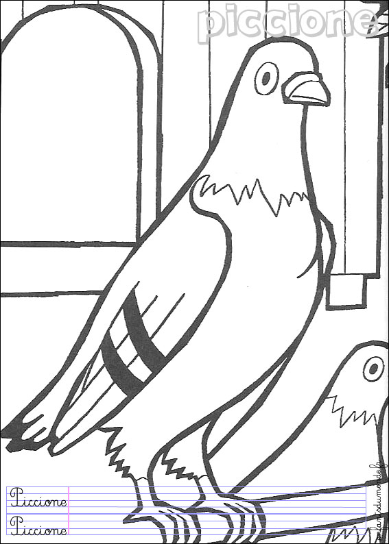 Coloriage Le Chien Et Le Pigeon.Piegon Dessin