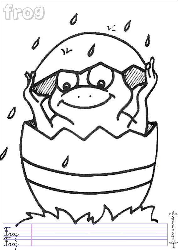 165 coloriage grenouille 2