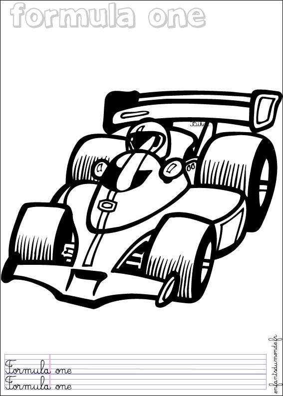 voiture de course dessin