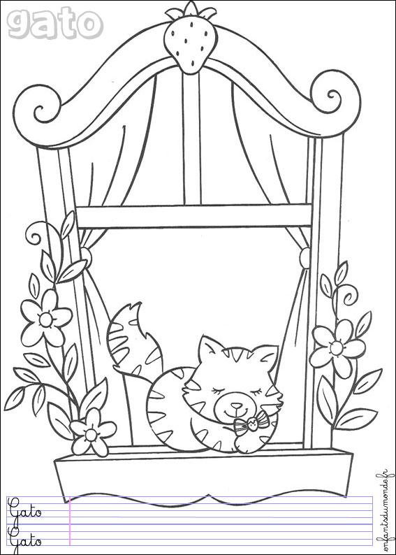 dessin chaton a imprimer